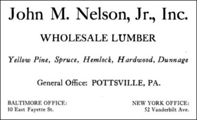 John M. Nelson, Jr., Inc. advertisement