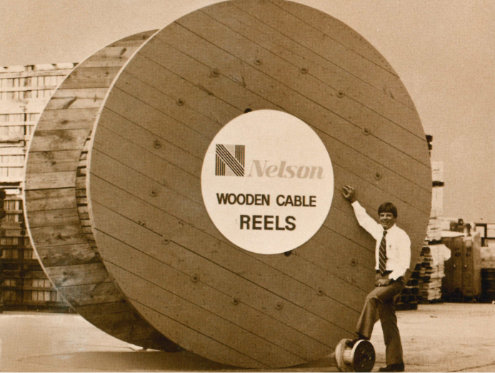 large wooden reels