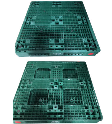 UP-1111-FP-HO4Green Plastic Pallet - Photo 1