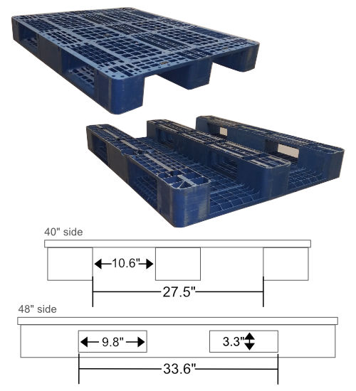 UP-1210-3R-150mm25lbs Plastic Pallet - Photo 3