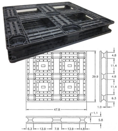 UP-1210-FP-OCIISFv1 Plastic Pallet - Photo 1