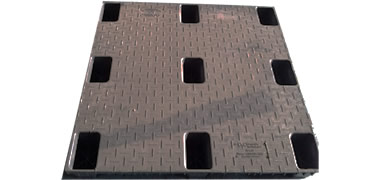 Plastic Pallet - UP-4242-N-Solidtop