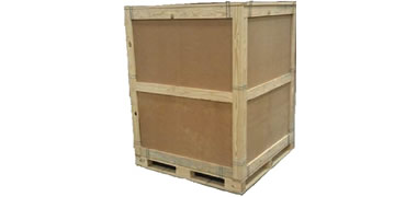 NWC-CCSP-EC Clip Crate Wooden Panel Crate with External Cleats