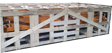NWC-CROF-IC Open Frame Wooden Shipping Crate with Internal Cleats
