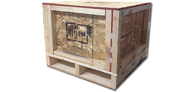 NWC-CRSP-EC Closed Panel Wooden Shipping Crate with External Cleats